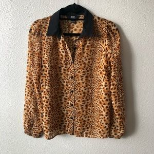 KNT Urban Outfitters Leopard Print Blouse